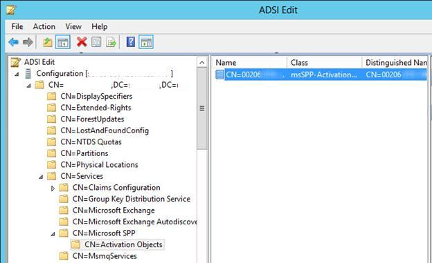 Расширение схемы в AD для поддержки активации Windows 8 и Win 2012 в домене