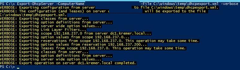 Миграция dhcp сервера на Windows server 2012