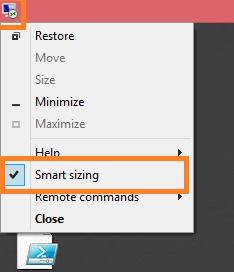 Включаємо smart sizing (автоматичне масштабування) в rdp клієнта на windows 8