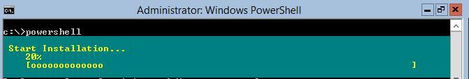 windows Server 2012 GUI с помощью powershell