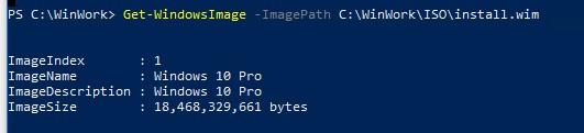 Get-WindowsImage список редакций в wim образе windows