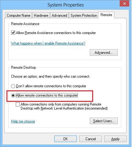 Разрешаем удаленный rdp доступ в windows 8