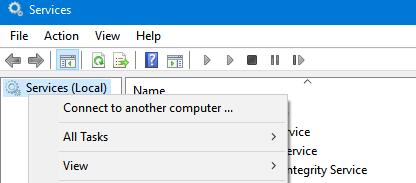 подключиться к службам на удаленом компьютере