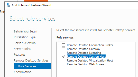 роль Remote Desktop Session Host
