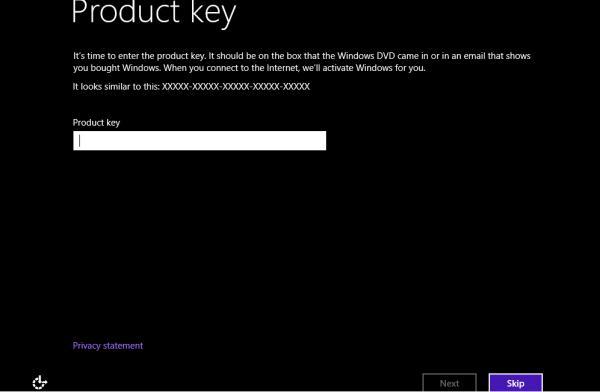 windows 8 пропустить ввод ключа
