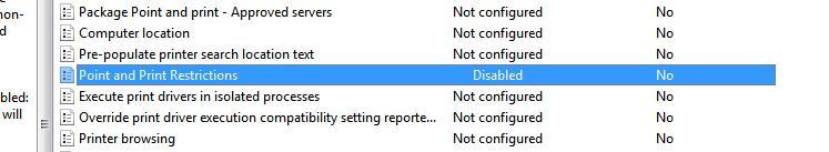 windows7 point and print restriction: отключаем UAC для корректной установки драйверов принтеров