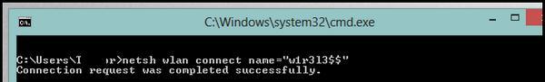 Как в windows 8 подключиться к wi-fi сети из командной строки