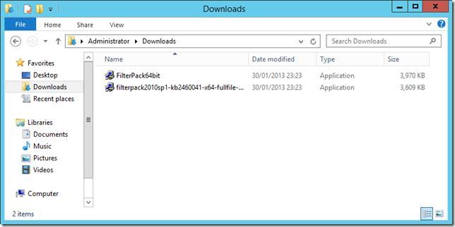 Установка Microsoft Office 2010 Filter Packs, необходимых для Exchange 2010