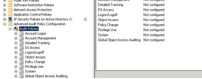 Розширені (гранульовані) політики аудиту в Windows