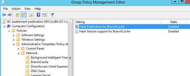 windows 2012 branchcache - включить генерацию хэшей для шары