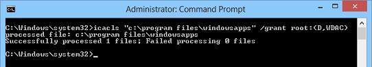 icacls раздать NTFS права в win8