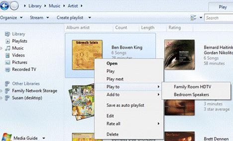 wmp потоковое видео и play to в dlna сети на windows 8