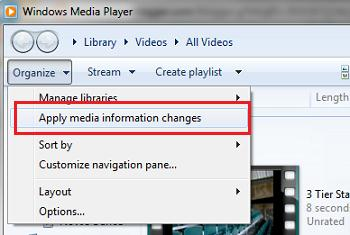 Принудительно обновить списик файлов к воспроизведению windows media player