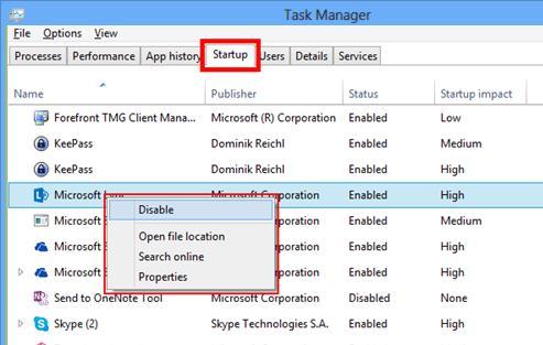 Вкладка автозагрузки в диспетчере задач windows 8