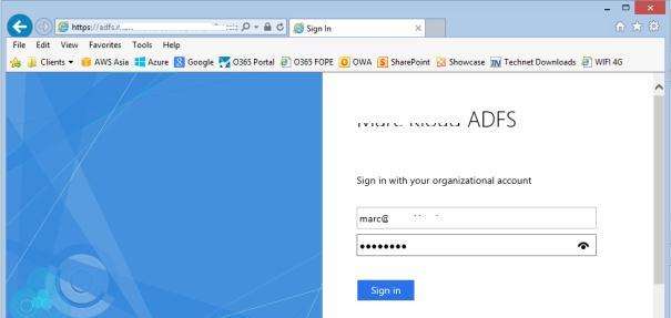 Вікно adfs аутентифікації