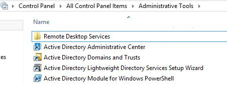 Administrative Tools windows 8.1