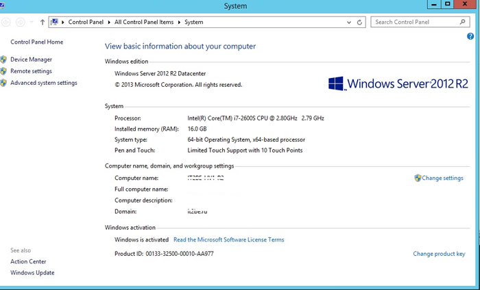 Автоматическая активация виртуальных машин (avma) в windows server 2012 r2 datacenter