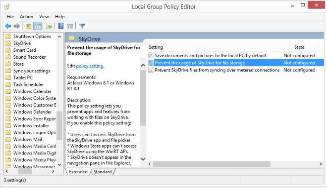Как отключить skydrive в windows 8.1