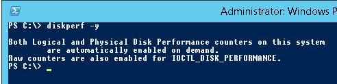 diskperf -y в windows server 2012