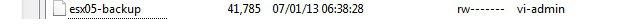Файл с резервной копией конфигурации esxi
