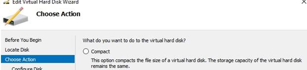 compact стиснути файл в hyper-v за допомогою дефрагментації