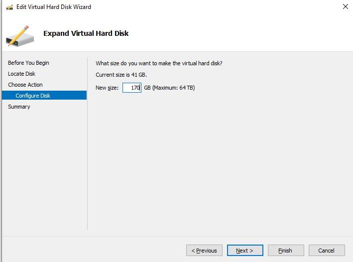 увеличить размер виртуального диска hyperv без выключения ВМ