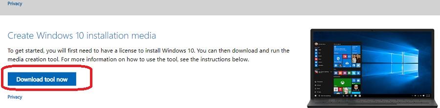 інструмент створення медіа Windows 10 -