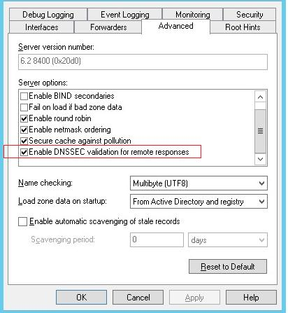 Enable-DNSSEC-validation-for-remote-responses - включити DNSSEC для зовнішніх зон