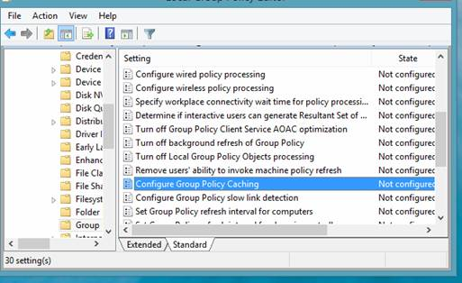 Group Policy Caching в Windows 8.1