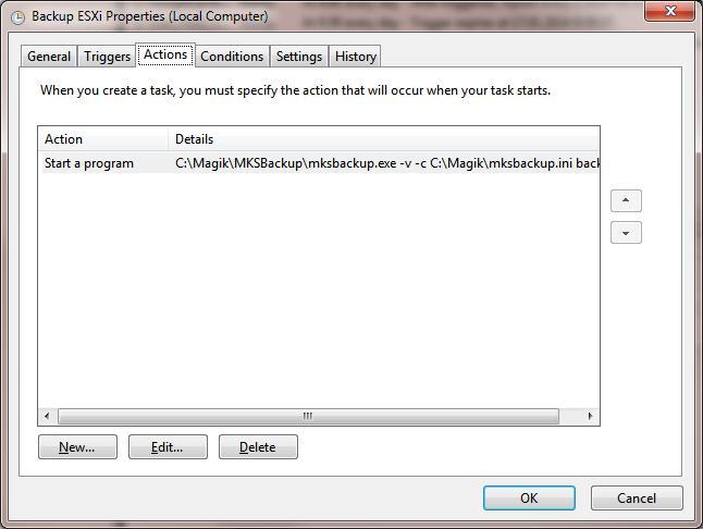 Запуск резервних копіювання vmware esxi за розкладом