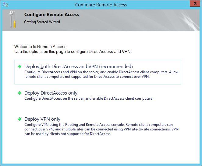 deploy vpn only windows 2012r2