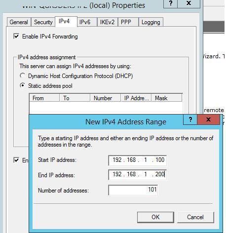 встроенный dhcp сервер для vpn клиентов