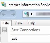"""Отсуствует пункт """"Подключение к серверу IIS(Connect to a server) в меню Windows 10"""
