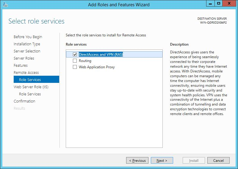 Установка VPN сервера на базе windows server 2012 r2