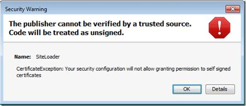 java The publisher cannot be verified by a trusted source. Code will be treated as unsigned