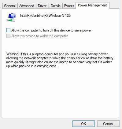 Режим энергосбережения для wifi карты в windows8