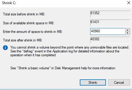 новый раздел диска в гостевой виртуальной машине с windows