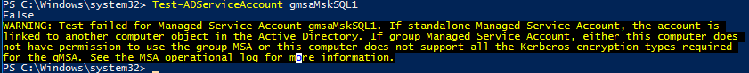 this computer does not have permission to use the group MSA