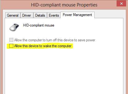 Allow this device to wake the computer (Разрешить этому устройству выводить компьютер из спящего режима)
