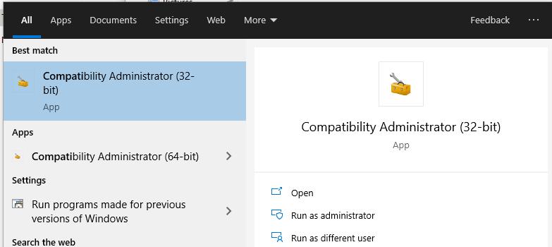 Application Compatibility Administrator