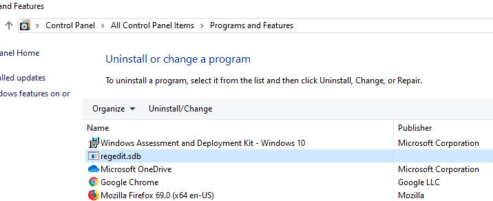 sdb файл в установленных приложениях
