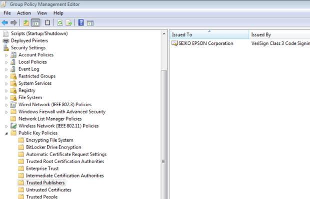 Список довірених СЕРТФІКАТА в Windows.  сертифікат вендора