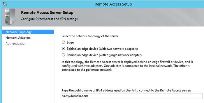 Сервер directaccess с двумя сетевыми картами