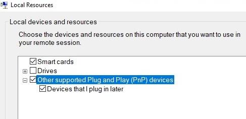 проброс usb устройства в виртуальную машину hyper-v через enhanced session mode