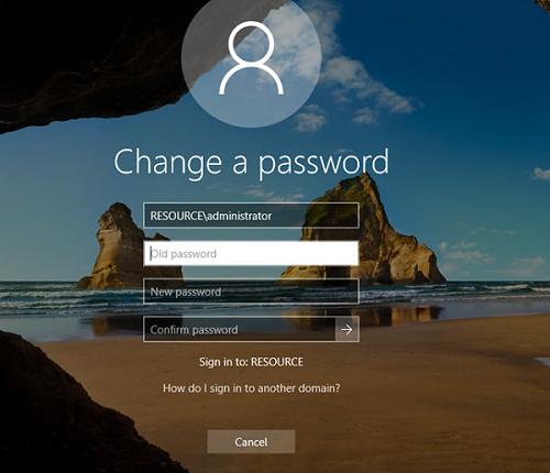 сменить пароль удаленно в rdp сессии