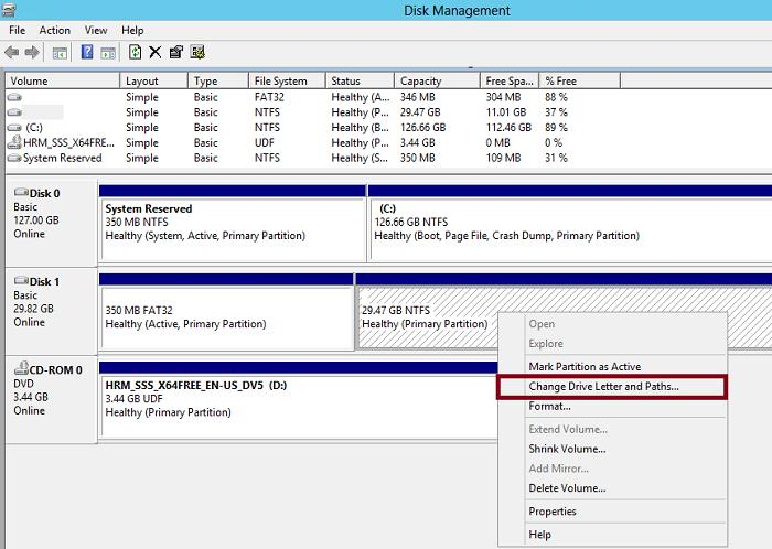 назначить букву диску windows 8