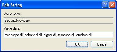 windows xp включаем поддержку nla : credssp.dll