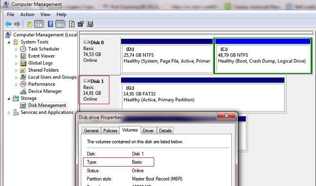 usb диск как локальный