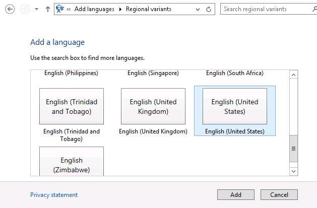 Добавялем английскую раскладку в Windows 8